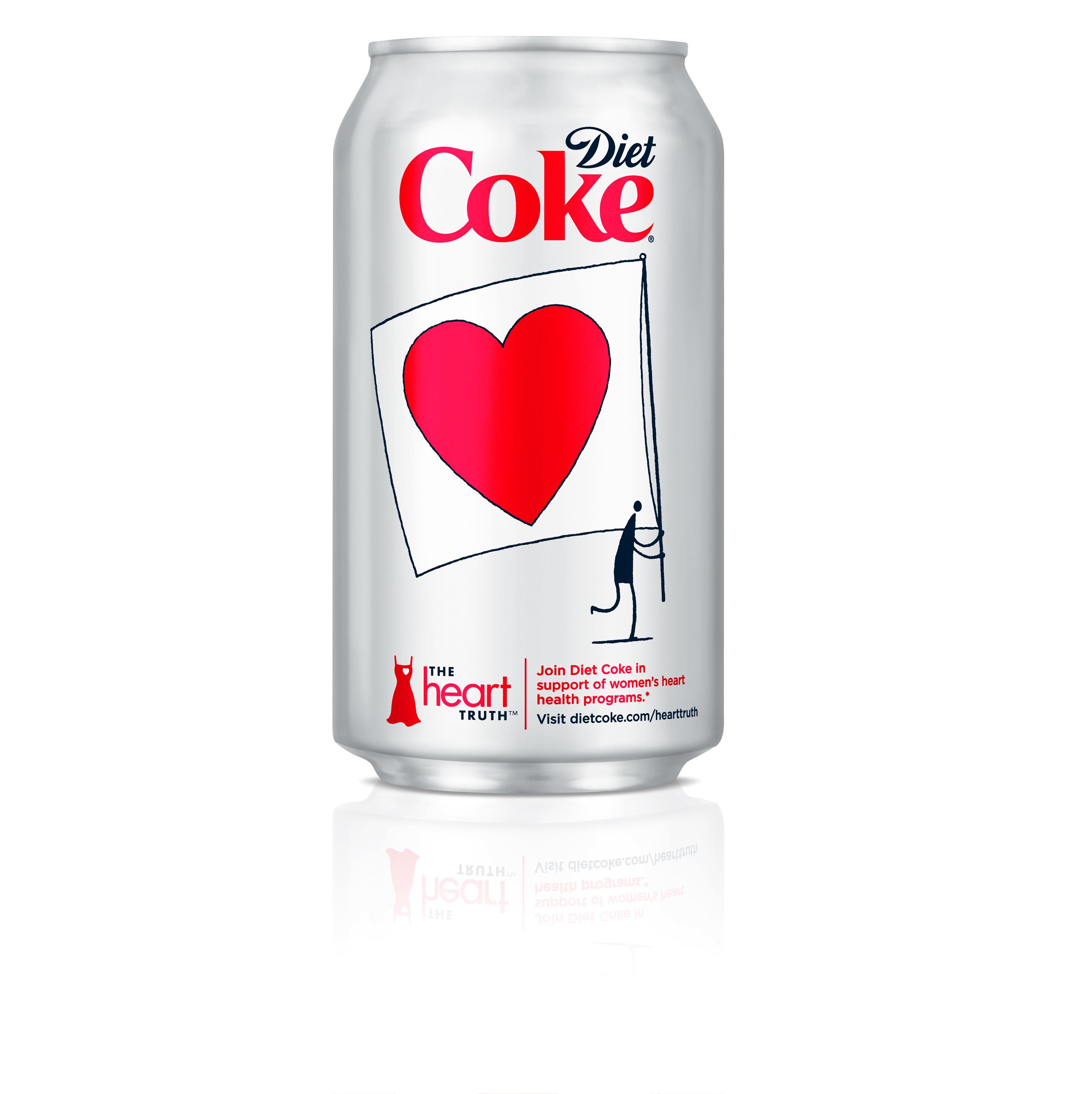 DIET COKE® AND HEIDI KLUM WAVE A FLAG FOR WOMEN'S HEART HEALTH